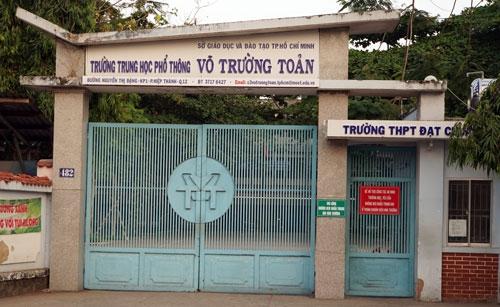 Trường THPT Võ Trường Toản, quận 12. Ảnh: Mạnh Tùng.