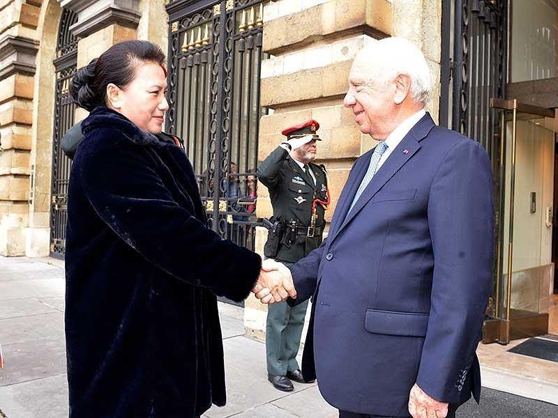 Chủ tịch Quốc hội hội kiến chủ tịch Thượng viện Vương quốc Bỉ - ảnh 1