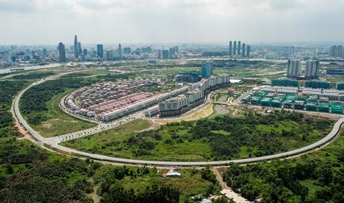Một góc Khu đô thị mới Thủ Thiêm (quận 2). Ảnh: Quỳnh Trần