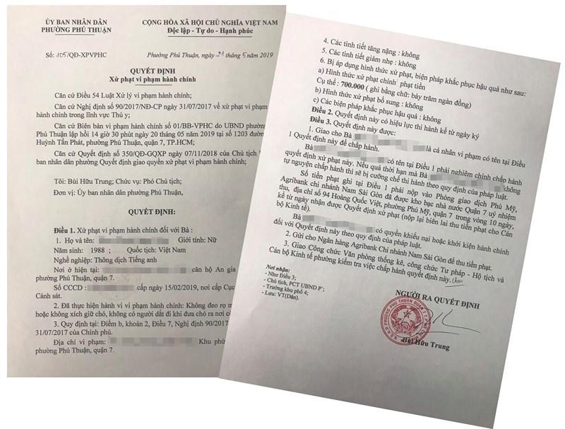 Vụ Việt kiều dắt chó không đeo rọ mõm: Bị xử phạt 700.000 đồng - ảnh 1