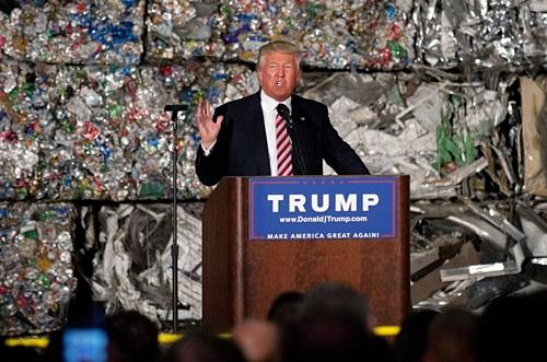 Tổng thống Mỹ Donald Trump tại Pennsylvania năm 2016. Ảnh: AFP