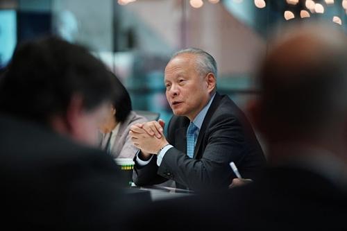 Đại sứ Trung Quốc tại Mỹ Cui Tiankai. Ảnh: Bloomberg