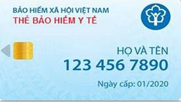 Mẫu thẻ bảo hiểm y tế điện tử. Ảnh: Bảo hiểm xã hội Việt Nam.