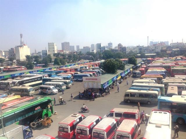 Từ 21-30 tháng Chạp, 4 bến xe tại TPHCM phục vụ khoảng 1,3 triệu lượt hành khách
