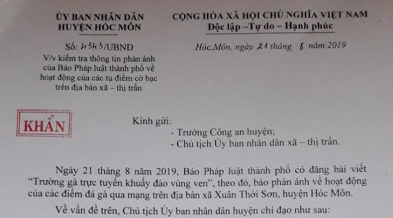 Chủ tịch Hóc Môn: Kiểm tra, tạm đình chỉ ngay công an khu vực - ảnh 2