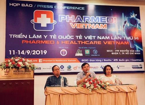 Họp báo giới thiệu Triển lãm Y tế Quốc tế Việt Nam (Pharmed & Healthcare Vietnam 2019) vừa diễn ra hôm 20/8.