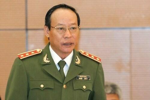 Thượng tướng Lê Quý Vương, Thứ trưởng Bộ Công an. Ảnh: Trung tâm báo chí Quốc hội.