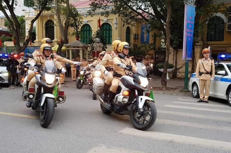 Công an Hà Nội tung quân trước trận đấu Việt Nam - Malyasia - ảnh 1