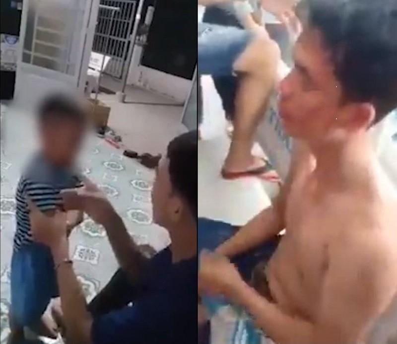 Công an nói về vụ người cha tát con tím mặt và bị đánh - ảnh 1