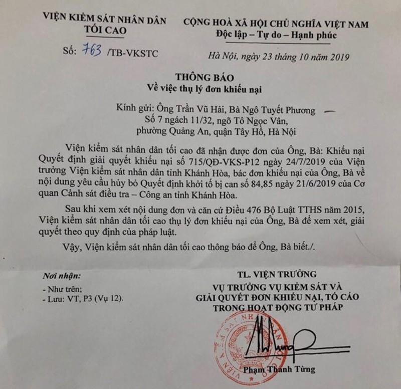 VKSND Tối cao thụ lý khiếu nại của vợ chồng LS Trần Vũ Hải - ảnh 2