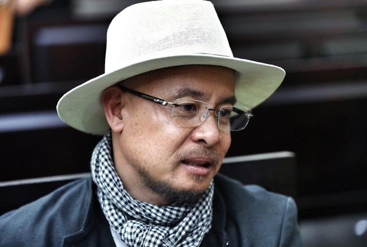 Ông Vũ sau phiên tòa hôm nay. Ảnh: Thành Nguyễn.
