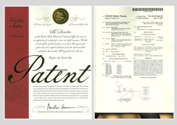Ứng dụng của Viettel được cấp bằng bảo hộ độc quyền tại Mỹ - Ảnh 2.