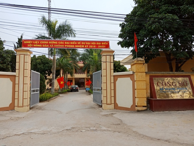 Xã Hoằng Phong - nơi xảy ra sự việc
