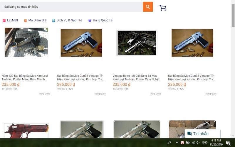 Thực hư sàn thương mại điện tử Lazada bán súng, đạn - ảnh 1
