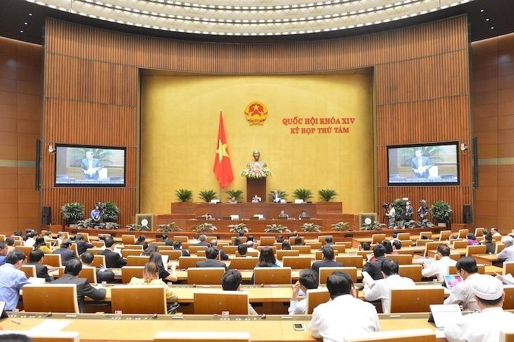 Một phiên họp toàn thể tại hội trường của Quốc hội. Ảnh: Ngọc Thắng