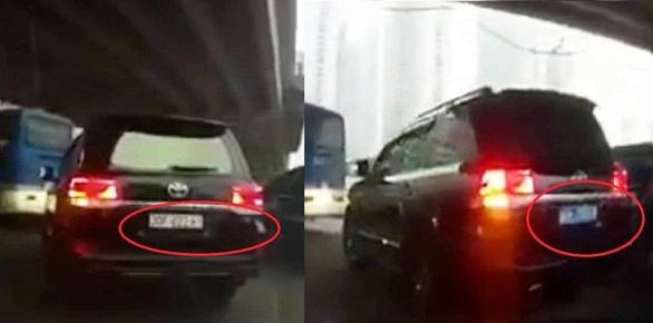 Cục CSGT xác định xử lý nghiêm xe biển số giả, xe lật biển số - Ảnh 1.