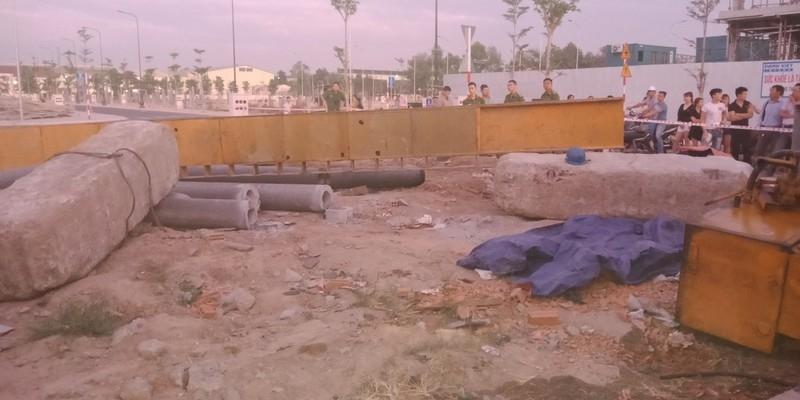 Bình Dương: Một công nhân bị tảng đá đè chết thương tâm - ảnh 1