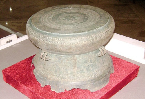 Trống đồng Trà Lộc. Ảnh: Bảo tàng Quảng Trị