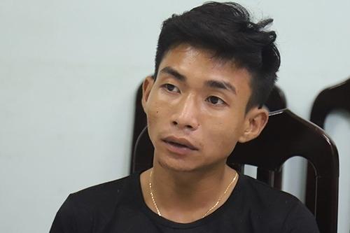Đinh Văn Giáp lúc bị bắt. Ảnh: Phạm Dự.
