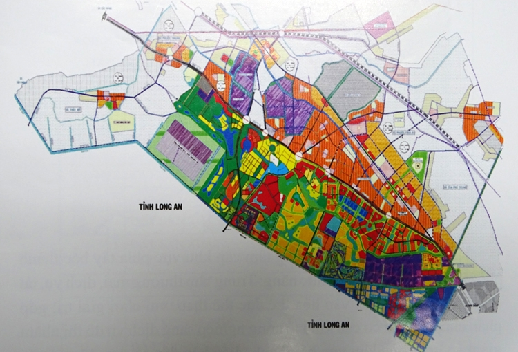 Khu đô thị Tây Bắc được điều chỉnh dựa trên bản đồ cũ này.