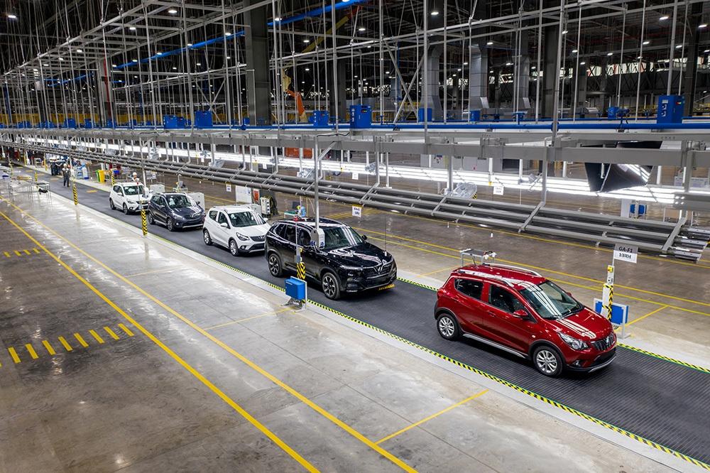 Một dây chuyền sản xuất xe của VinFast tại Hải Phòng. Ảnh: Minh Tuấn