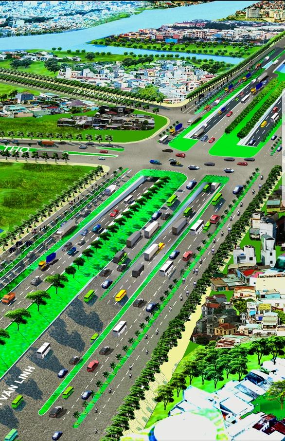 TP.HCM sẽ xây dựng nút giao thông Nguyễn Hữu Thọ - Nguyễn Văn Linh - Ảnh 1.