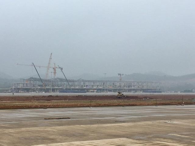 Cảng Hàng không Quảng Ninh đã thi công được 75% tổng thể khối lượng dự án
