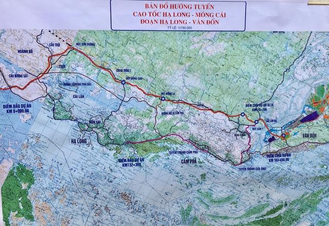 Sơ đồ tuyến Dự án cao tốc Hạ Long - Vân Đồn