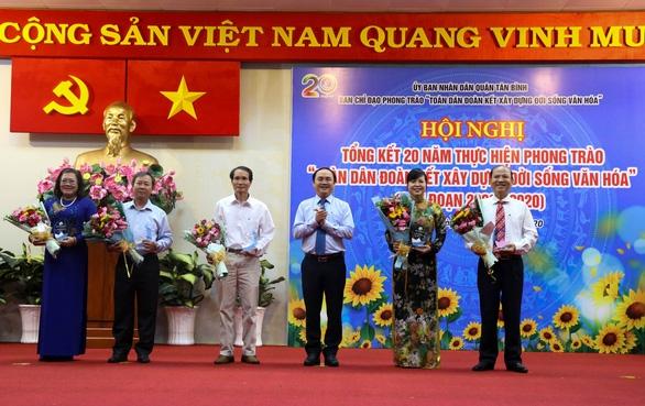 100% khu dân cư tại quận Tân Bình được công nhận khu dân cư văn hóa - Ảnh 1.