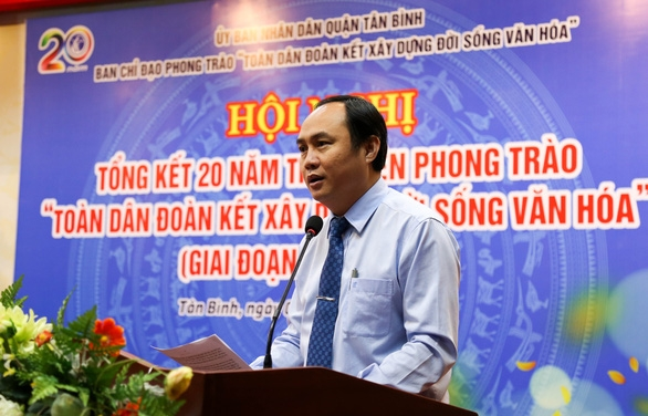 100% khu dân cư tại quận Tân Bình được công nhận khu dân cư văn hóa - Ảnh 2.