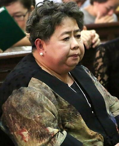 Trong phiên xử ông Danh và đồng phạm giai đoạn 1 năm 2015, bà Phấn được triệu tập đến tòa. Ảnh: CTV.