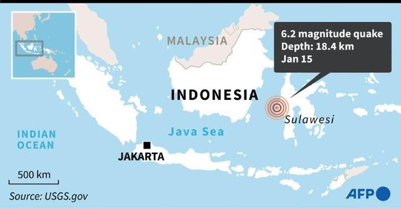 Động đất mạnh ở Indonesia, ít nhất 7 người chết, hơn 600 người bị thương - Ảnh 2.