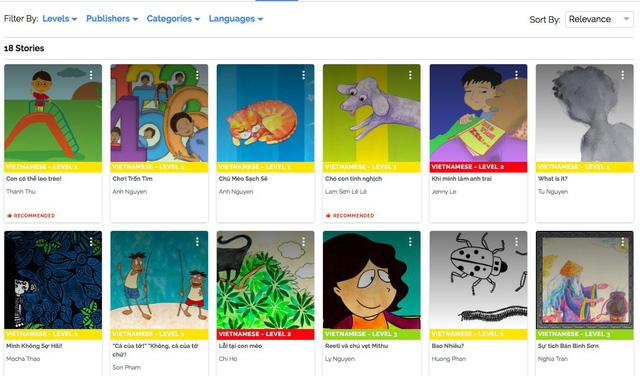 Kho trực tuyến 20.000 sách cho trẻ em, có tiếng Việt - Ảnh 1.