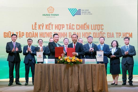 Tập đoàn Hưng Thịnh và Đại học Quốc gia TP.HCM ký kết hợp tác chiến lược - Ảnh 1.
