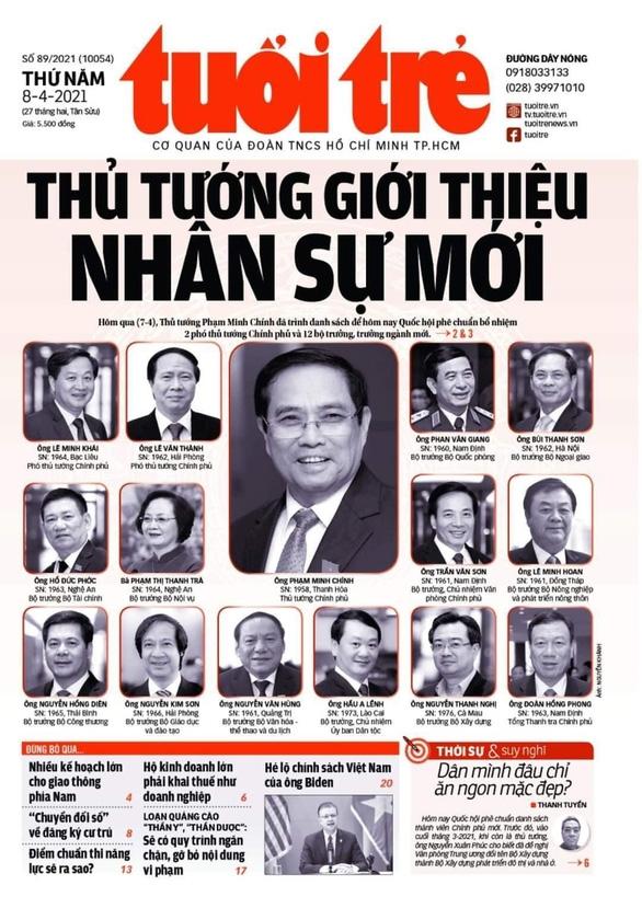 Hôm nay ra mắt 2 phó thủ tướng và 12 thành viên Chính phủ - Ảnh 1.