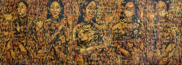 Ám ảnh COVID-19 vào tranh sơn mài của Trần Lâm Bình - Ảnh 2.