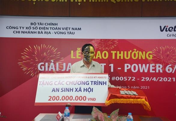 Người chơi thứ hai trúng Jackpot tại Long An tặng từ thiện 200 triệu đồng - Ảnh 3.