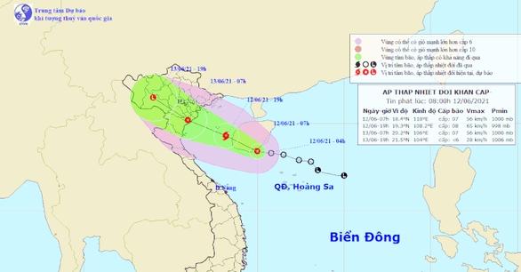 Áp thấp nhiệt đới đang mạnh lên thành bão, đổ bộ vào Thái Bình - Thanh Hóa rạng sáng mai - Ảnh 1.
