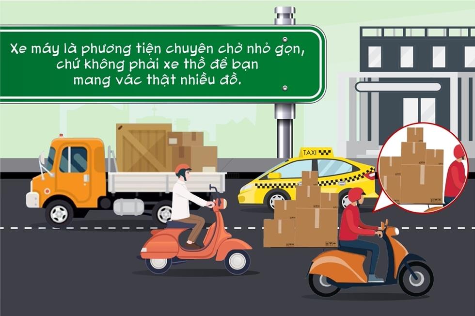 Điểm danh những hành vi kém văn minh giao thông người đi xe máy thường mắc phải - Ảnh 1.