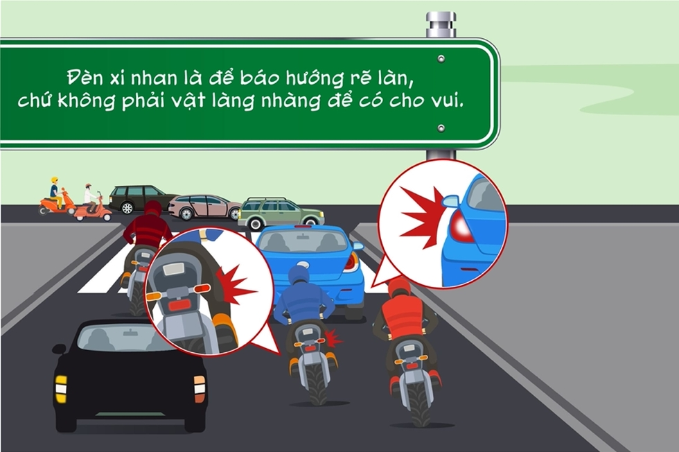 Điểm danh những hành vi kém văn minh giao thông người đi xe máy thường mắc phải - Ảnh 6.