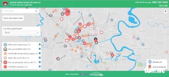 Hà Tĩnh vận hành bản đồ thông tin dịch tễ COVID-19 - Ảnh 1.