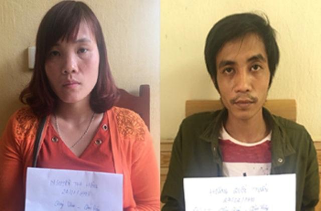 Hai vợ chồng Nguyễn Thị Hồng và Hoàng Quốc Tuấn