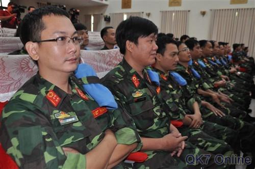 Việt Nam tham gia lực lượng giữ gìn hòa bình của Liên Hợp Quốc (ảnh: Quân khu 7)