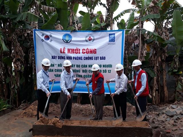 Khởi công xây dựng nhà cho ông Đỗ Văn Lại, thôn 1, xã Bình Đào, huyện Thăng Bình