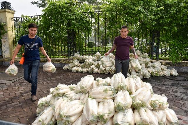 Củ cải được người trồng lựa chọn kỹ lưỡng, rửa sạch, đóng túi 5kg và bán giá 25 nghìn đồng mỗi túi.
