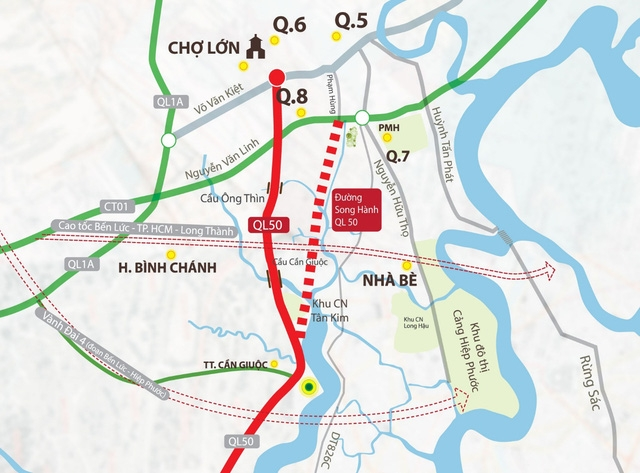 Toàn cảnh mạch giao thông khu Nam TP.HCM