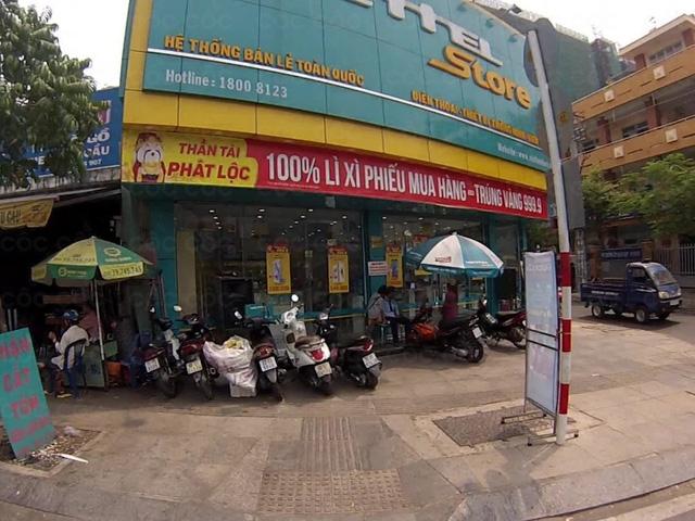 Cửa hàng điện thoại nơi xảy ra vụ việc