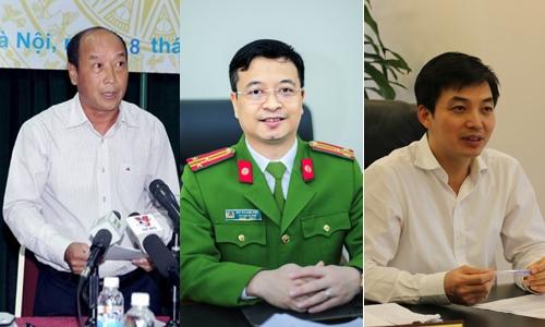 Thượng tá Bùi Quang Việt (trái), ông Nguyễn Quang Huyền (giữa) và ông Vũ Văn Thắng sẽ tham gia chương trình.