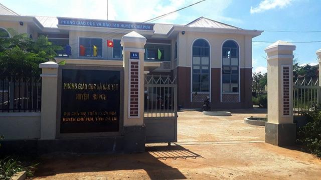 Trụ sở phòng Giáo dục đào tạo huyện Chư Pưh