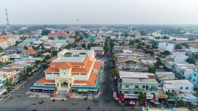 HÌnh ảnh thực tế trung tâm thị xã Kiến Tường